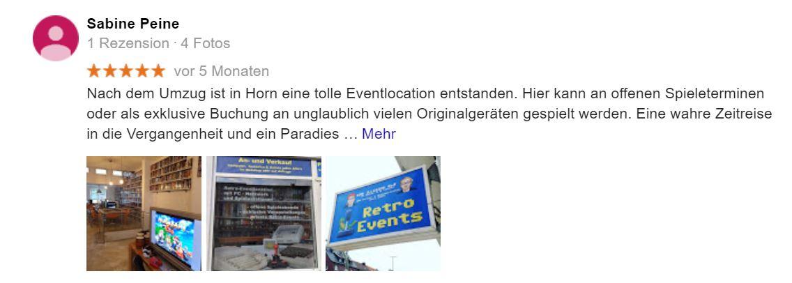 Eventlocation hamburg Retrospieleclub Feier Firmenfeier Event